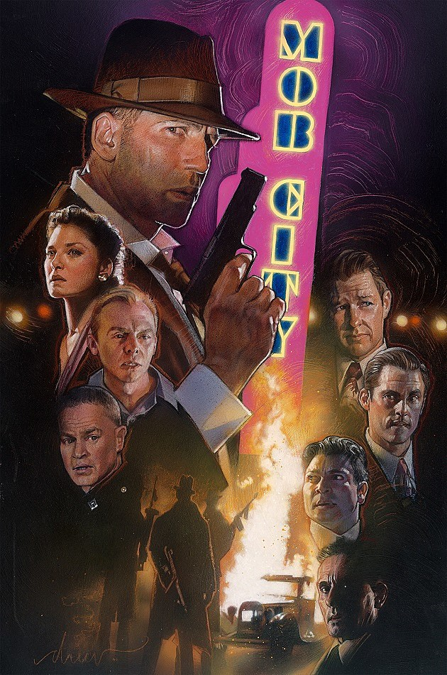 TNT Mob City Extended Trailer Drew Struzan Poster