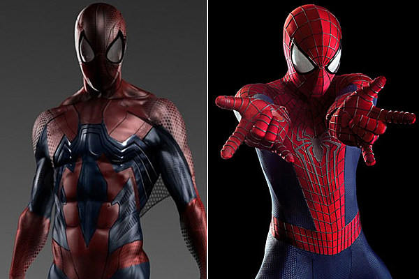 unused spiderman costumes reveal a very different look