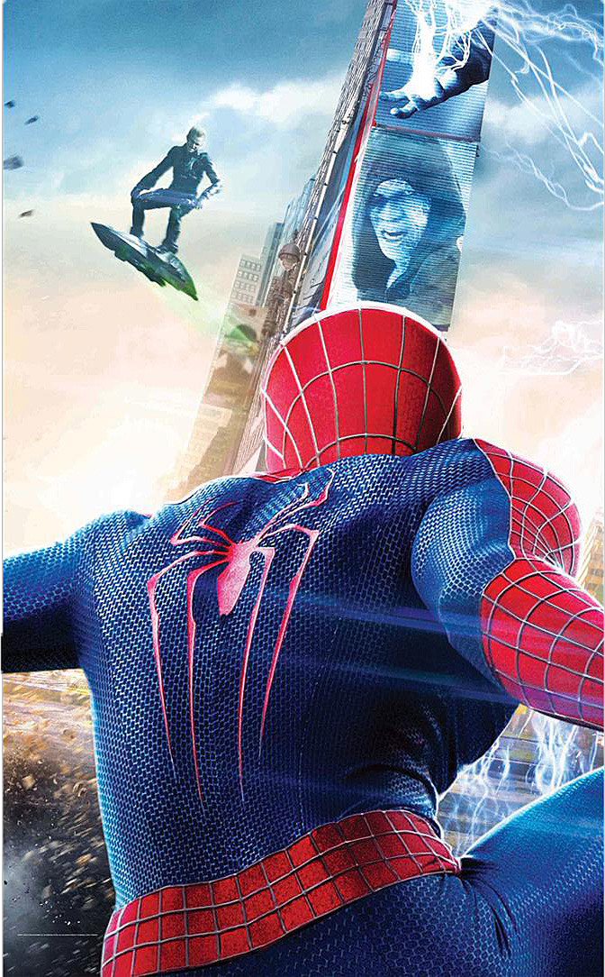 amazing spiderman 2 poster first look at rhino goblin