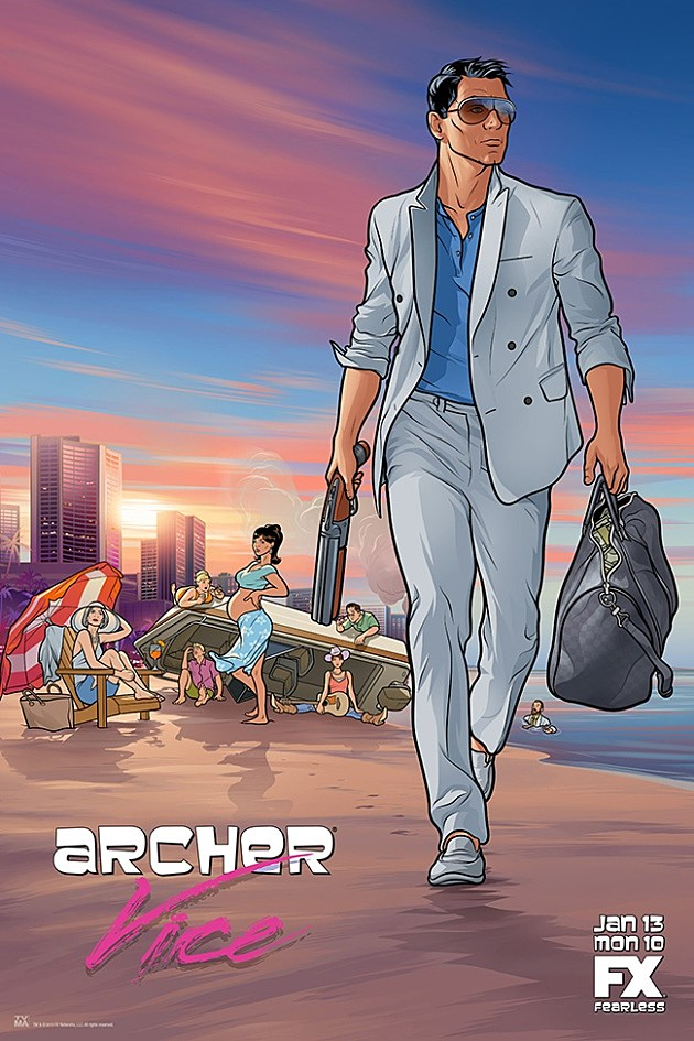Archer Season 5 Poster Vice
