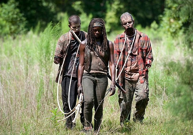 The Walking Dead 2014 Premiere After Photos Michonne Carl