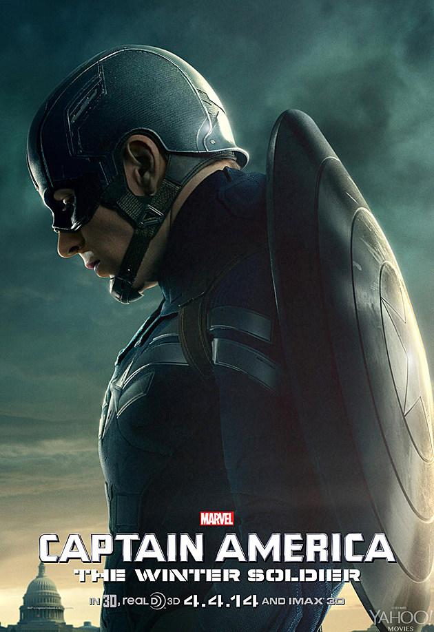 Captain America 2 Poster Steve Rogers Chris Evans