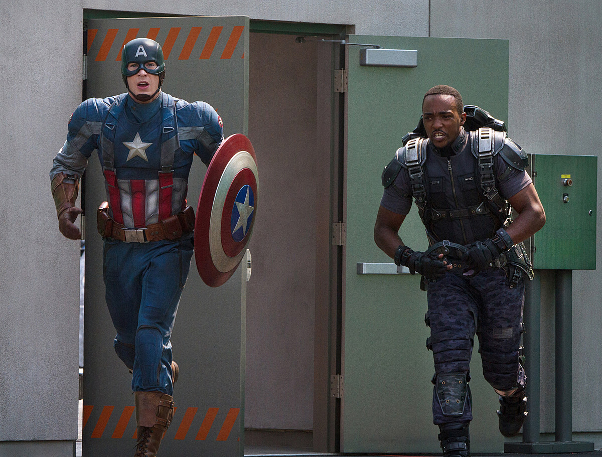 Captain America 2 Chris Evans Anthony Mackie