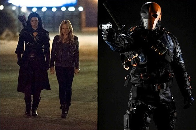 Arrow Nyssa al Ghul Katrina Law Slade Deathstroke Costume Photo