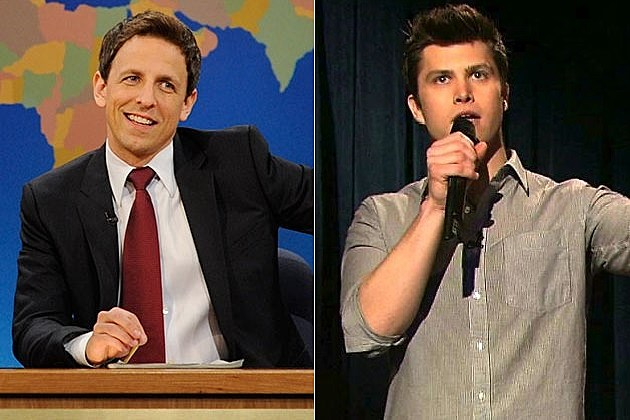 SNL Weekend Update Seth Meyers Colin Jost Cecily Strong