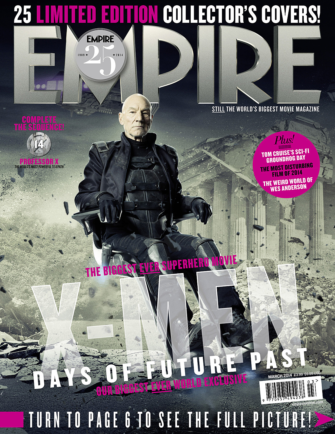 X-Men Days of Future Past Empire Cover Professor X