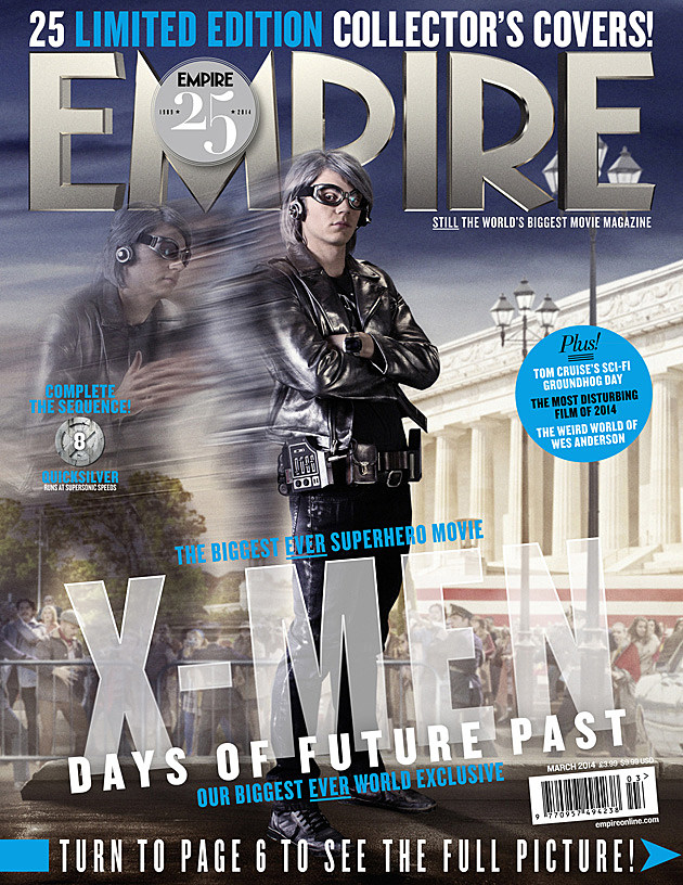 X-Men Days of Future Past Quicksilver Evan Peters Cover