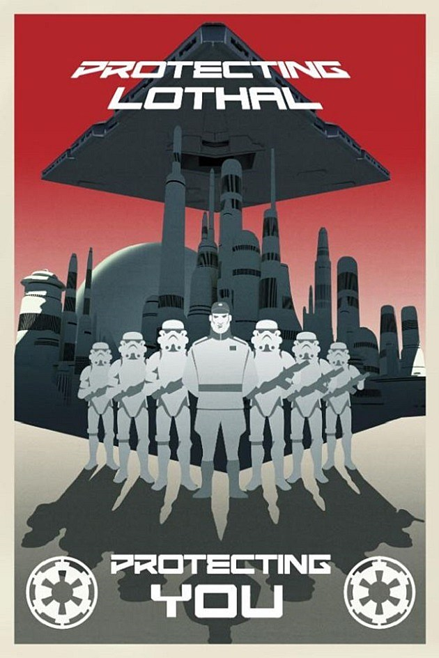 Star Wars Rebels Poster Empire Propaganda