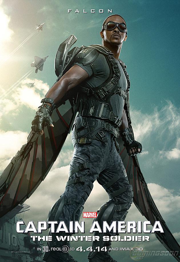 Captain America 2 Poster Falcon
