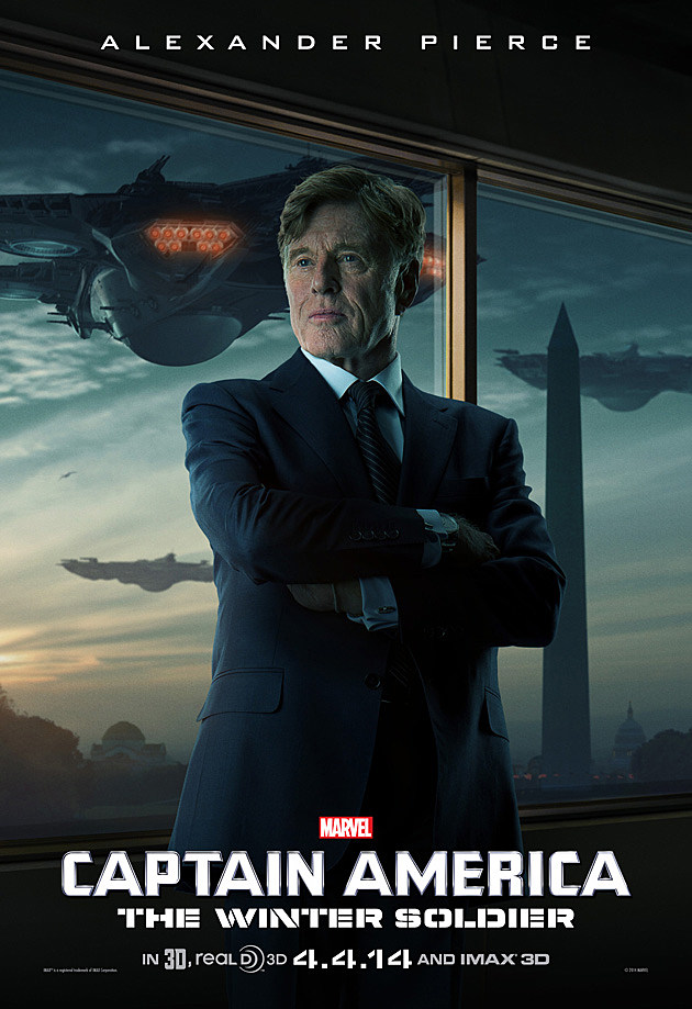 Captain America 2 Poster Robert Redford