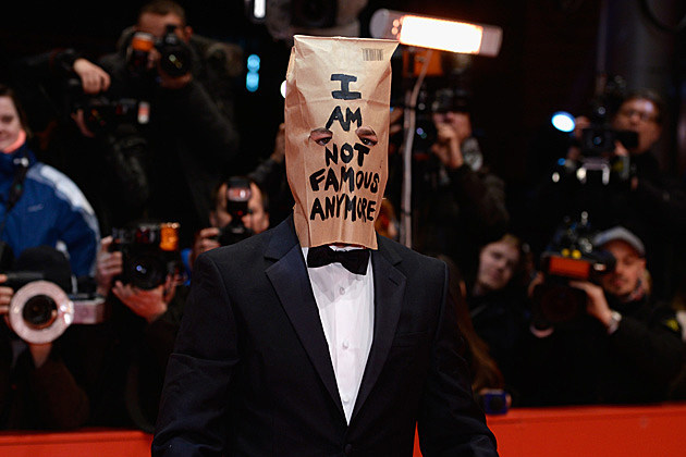 Shia LaBeouf Paper Bag Nymphomaniac