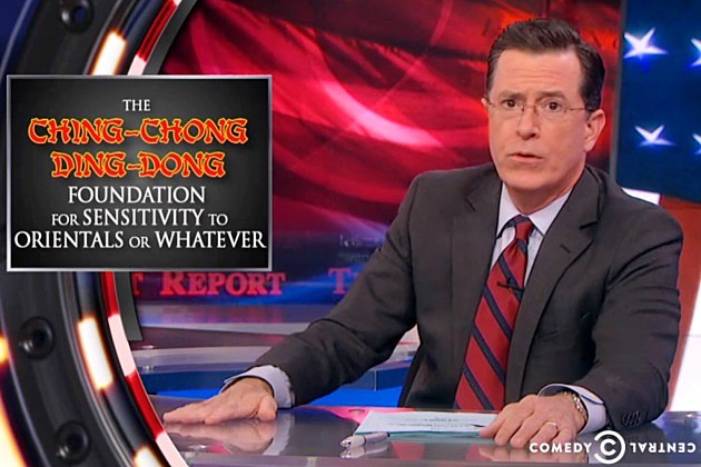 The Colbert Report Racist Ching Chong Ding Dong