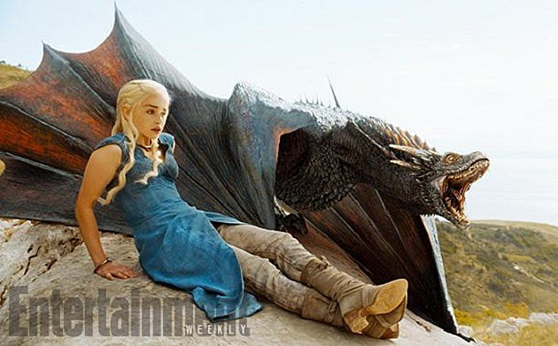 Game of Thrones Season 4 Photos Daenerys Drogon