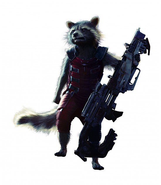 Guardians of the Galaxy Rocket Raccoon Full Body Photo