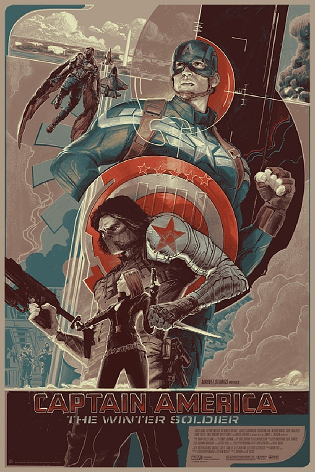Captain America: The Winter Soldier Mondo Poster Variant