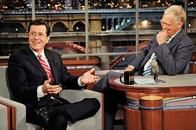 Stephen Colbert David Letterman Late Show April 22