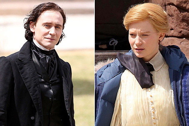 Crimson Peak Set Photos Tom Hiddleston Mia Wasikowska