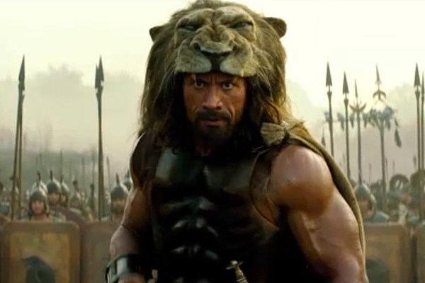 The Rock looks ridiculous with that Lion helmet.