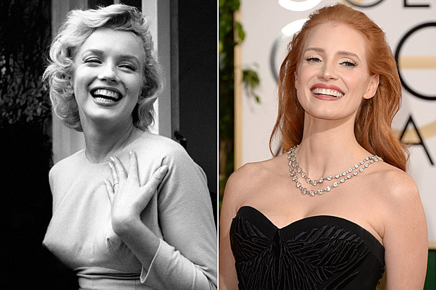 Jessica Chastain Marilyn Monroe Blonde