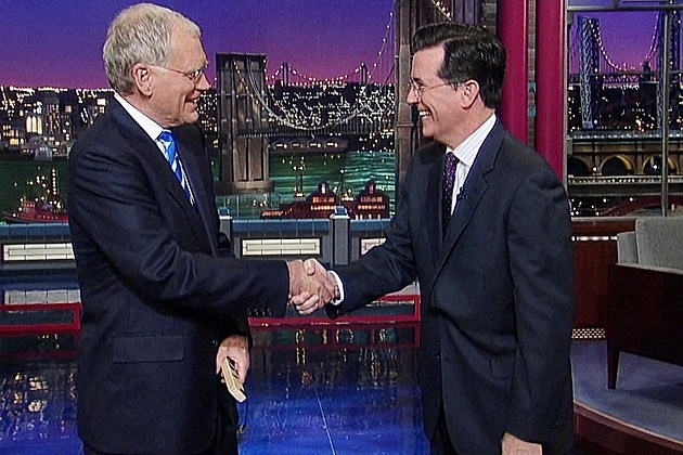 David Letterman Retirement Stephen Colbert Late Show Replacement