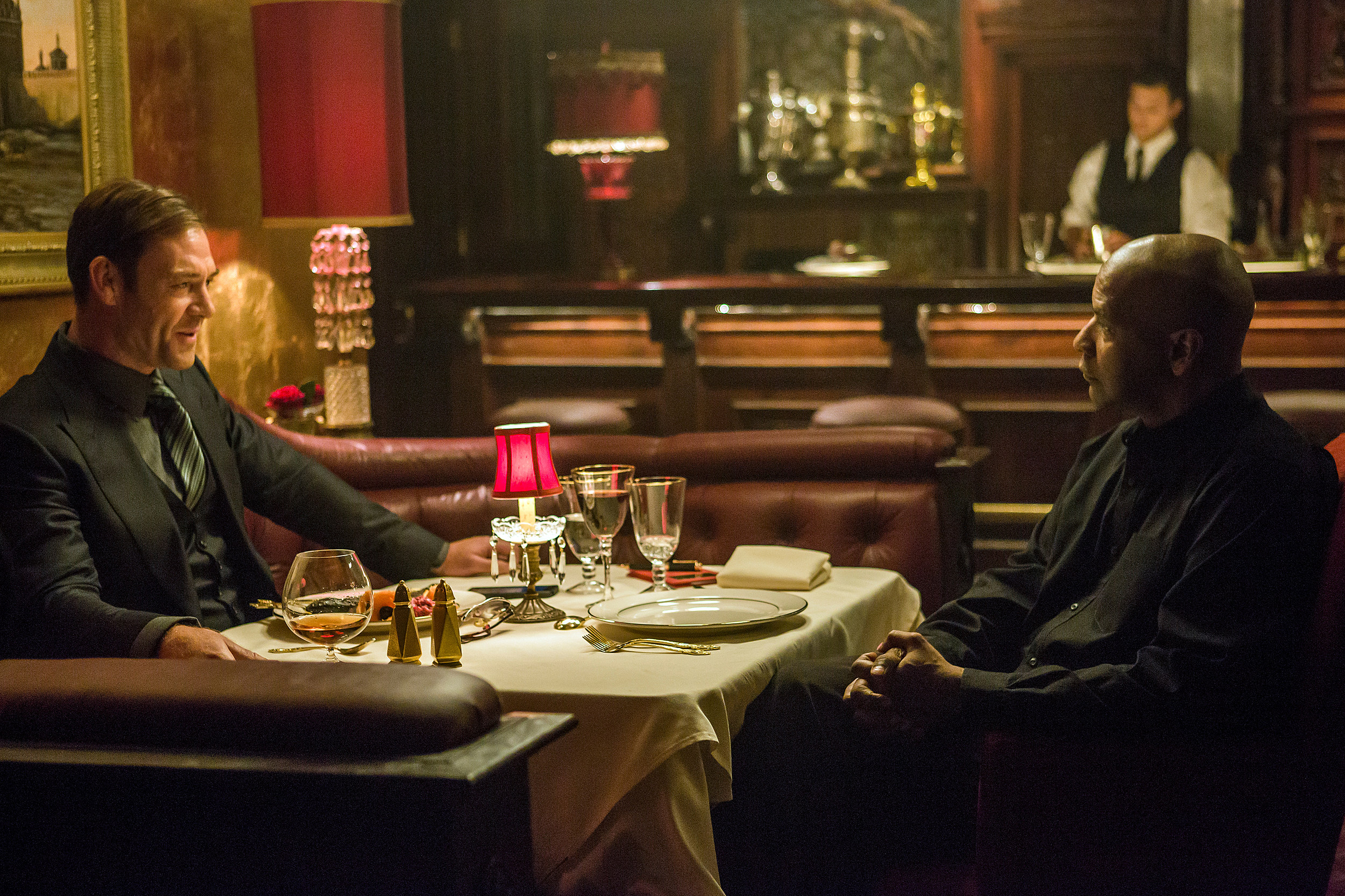 Denzel Washington and Martin Csokas face off in Antoine Fuqua's The Equalizer