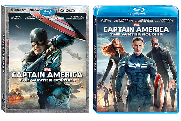 Captain America 2 dvd blu ray