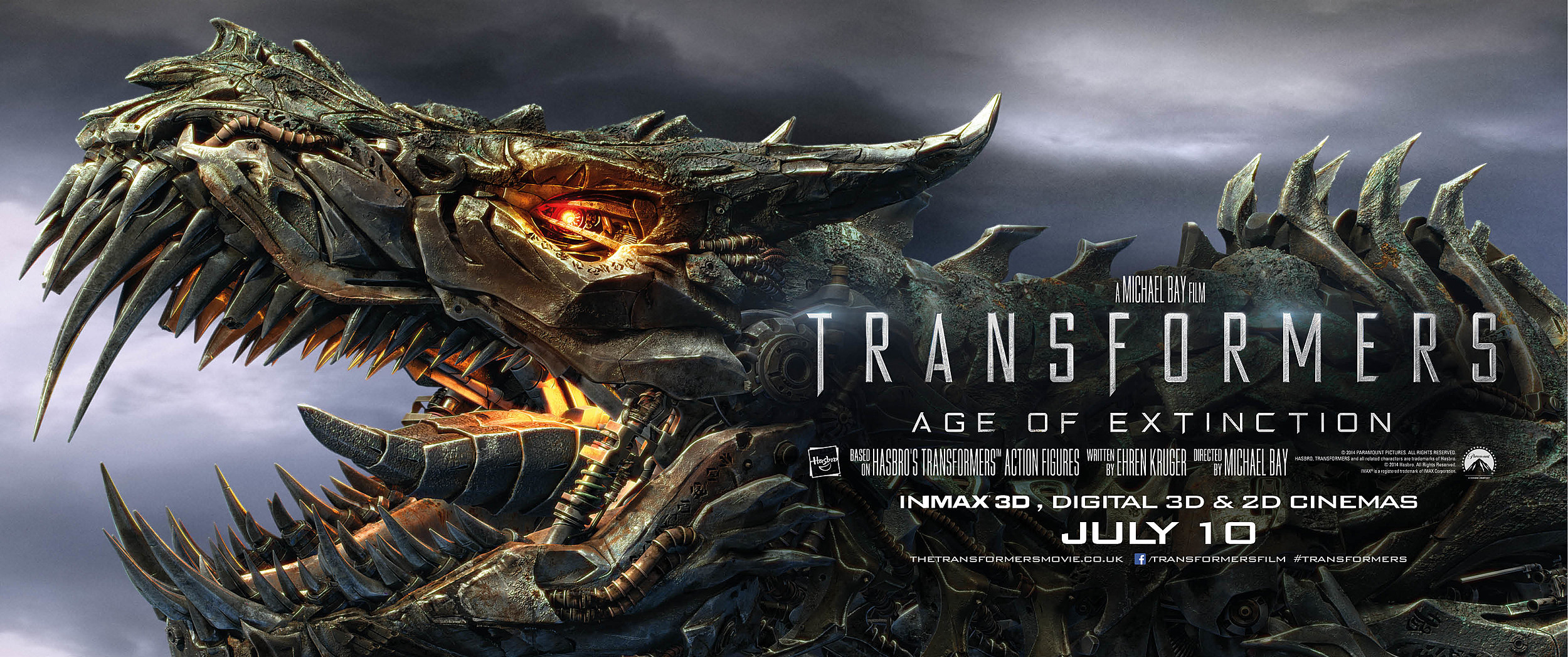 Transformers: Age of Extinction banner w/ Grimlock