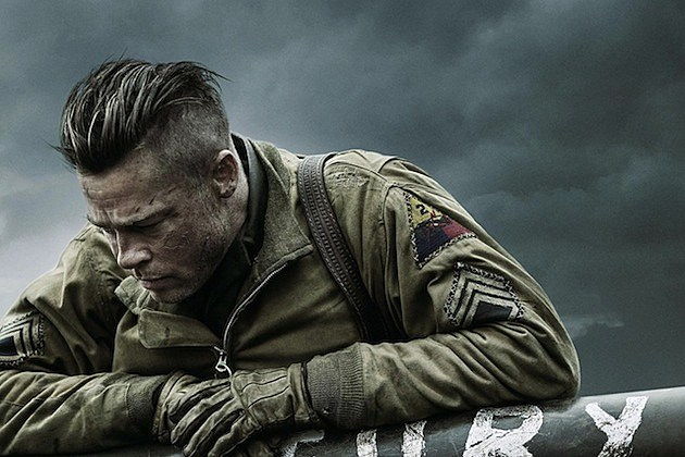 the wrap up brad pitt holds onto fury in this new poster