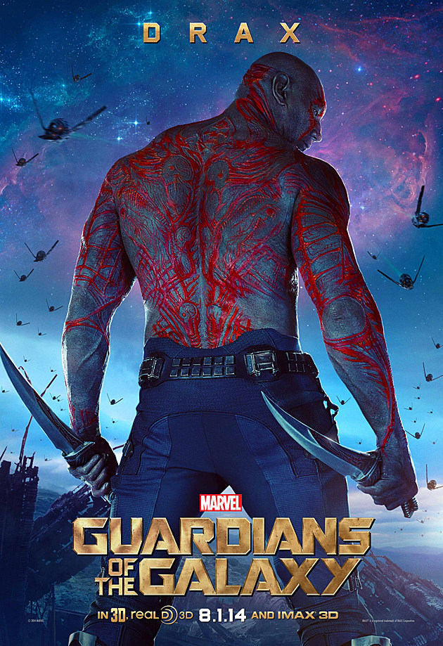 Guardians of the Galaxy Poster Drax The Destroyer