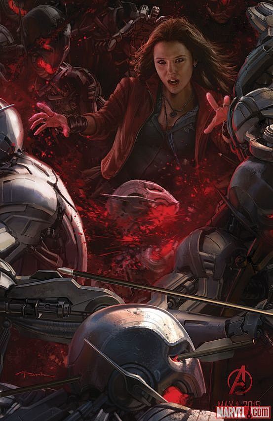 Avengers Age of Ultron Comic-Con art poster Scarlet Witch