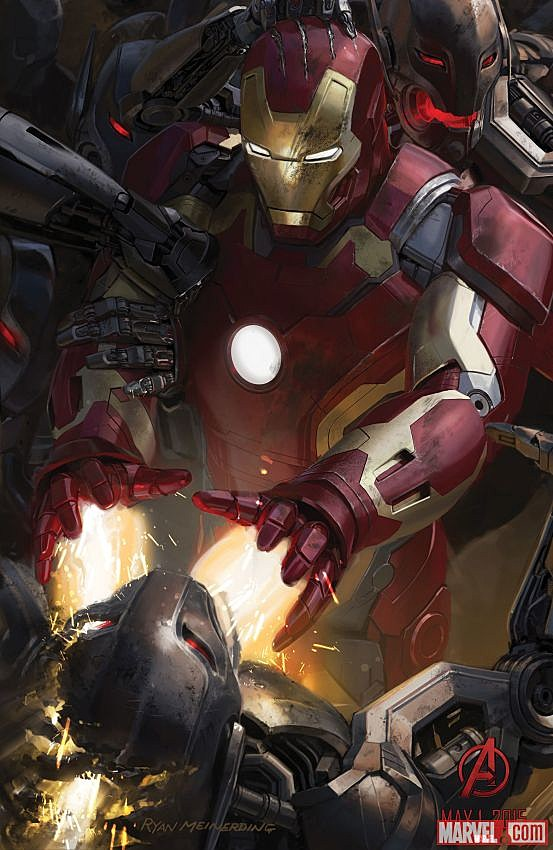 Avengers Age of Ultron Comic-Con art poster Iron Man