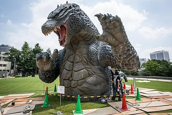 Godzilla Statue Erected To Terrorize Tokyo