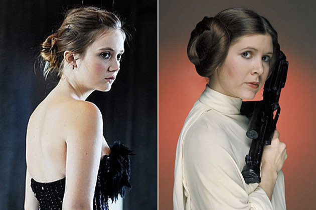 Star Wars Episode 7 Billie Lourd Carrie Fisher
