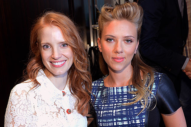 Scarlett Johansson Jessica Chastain Marvel Black Widow