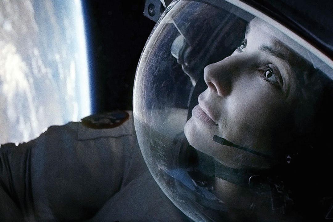 Sanda Bullock Gravity close-up