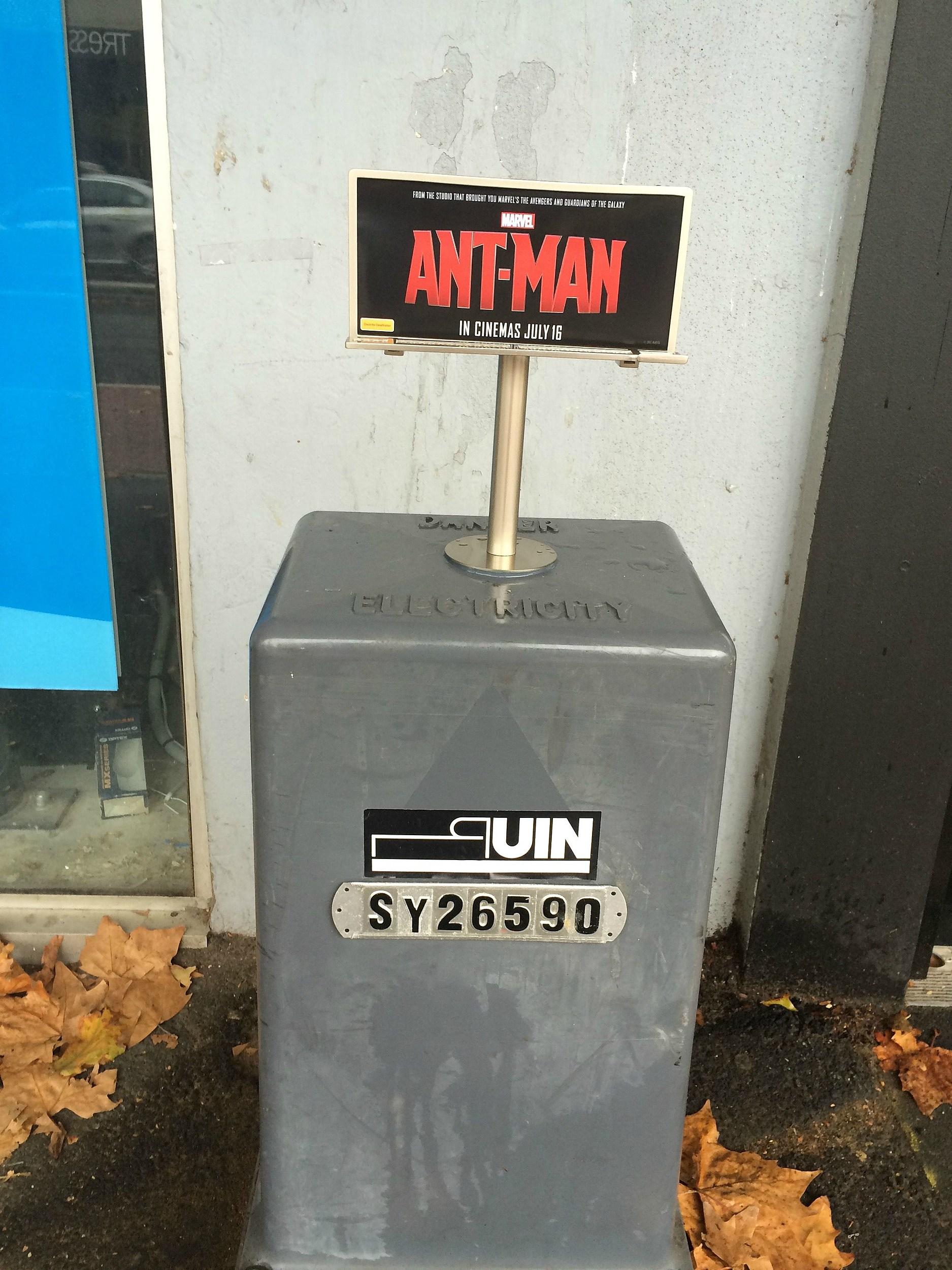 Tiny Ant Man billboard