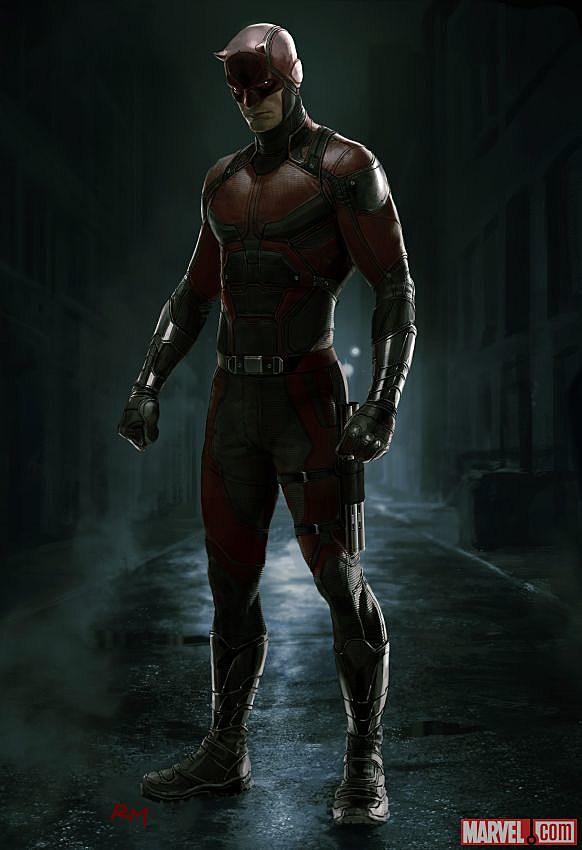 Daredevil Concept Art Reveals Details Of Netflix Red Suit