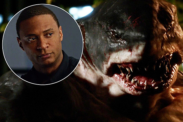 The Flash King Shark Diggle Crossover