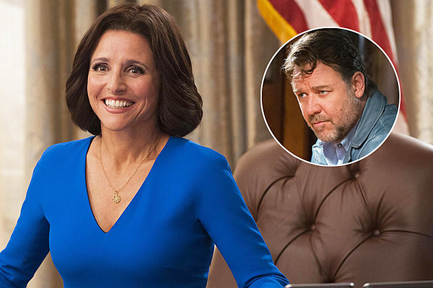 SNL Julia Louis Dreyfus Russell Crowe April