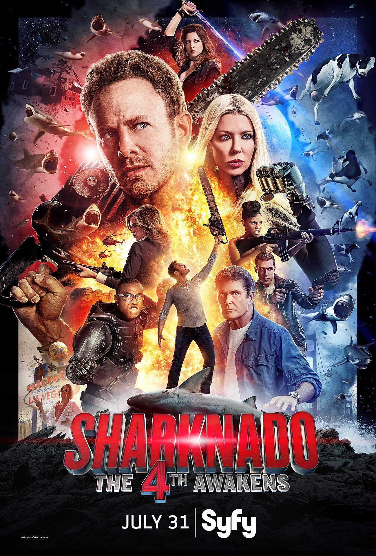 'Sharknado: The 4th Awakens' Gets a 'Star Wars'-Style Poster