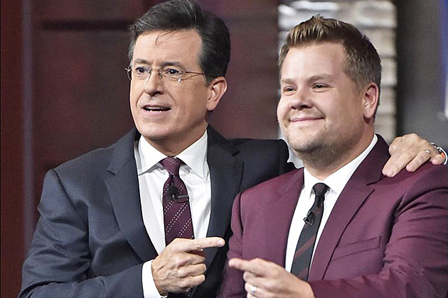 Stephen Colbert James Corden Late Show Timeslot