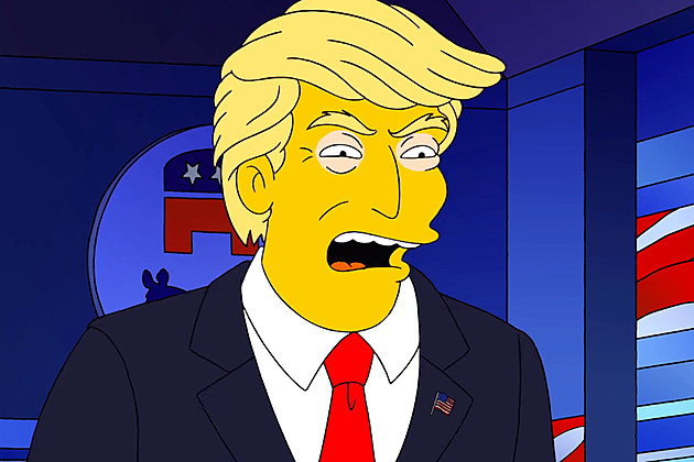 Simpsons Trump President Reaction