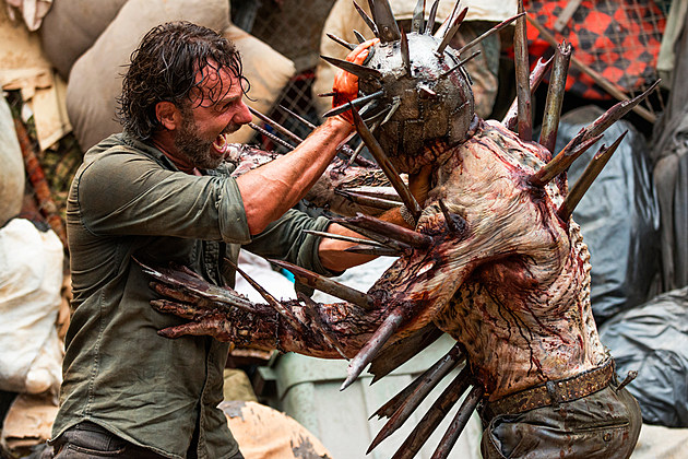 Walking Dead Spiked Walker Behind the Scenes Photos