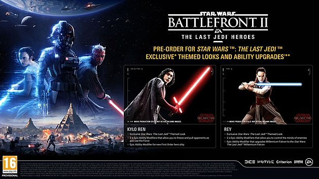 star wars battlefront 2 rey kylo last jedi preorder