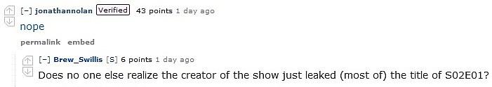 Westworld Season 2 Premiere Title