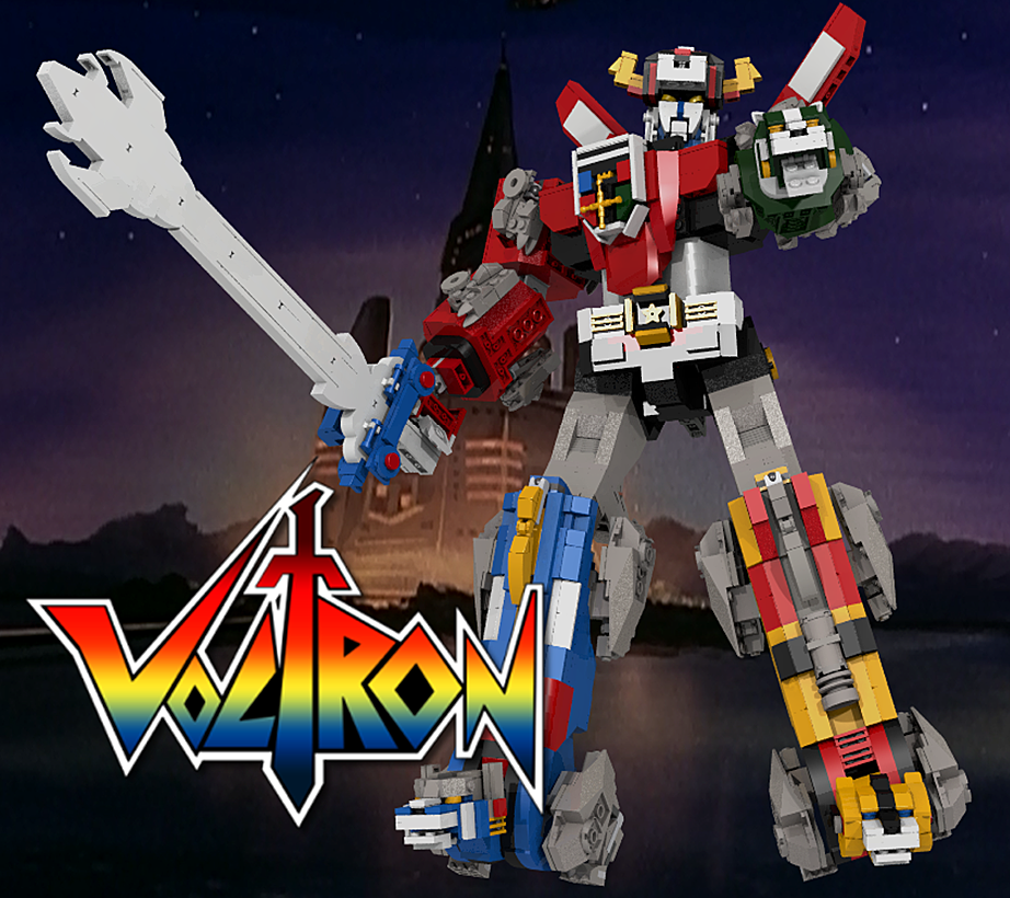 LEGO Voltron standing