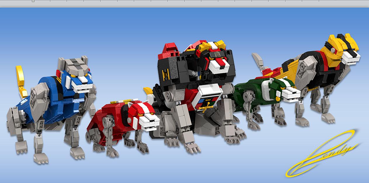 LEGO Voltron five lions
