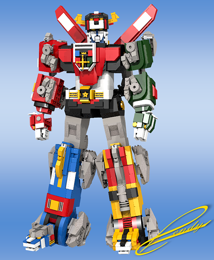 LEGO Voltron fully formed