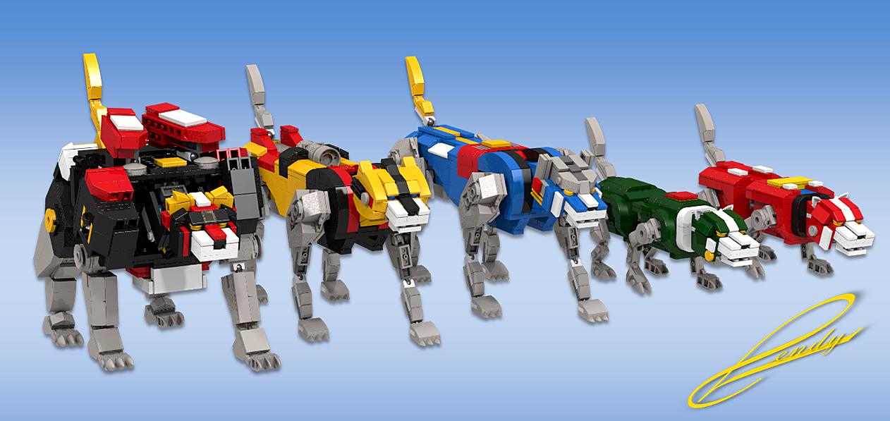 LEGO Voltron lions