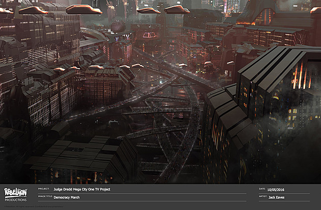 Judge Dredd Mega City One Concept Art